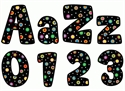 Picture of Dots on Black Designer Letters