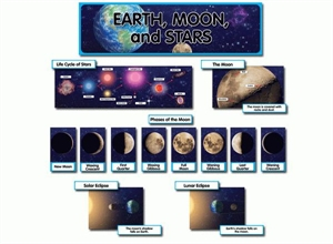 Picture of Earth, Moon and Stars Display Set