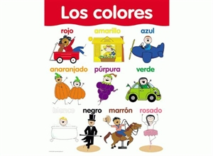 Picture of Los Colores Spanish Basic Skills Learning Chart