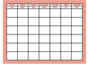 Picture of Red Gingham Calendar Chart
