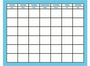 Picture of Blue Gingham Calendar Chart