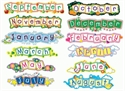 Picture of Gingham 12 Months Title Strips