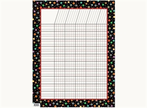 Picture of Dots on Black Poppin' Patterns Incentive Chart