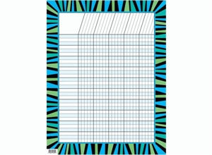 Picture of Blue and Green Stripes Poppin' Patterns Incentive Chart