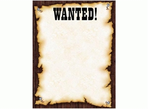 Picture of Wanted Learning Chart