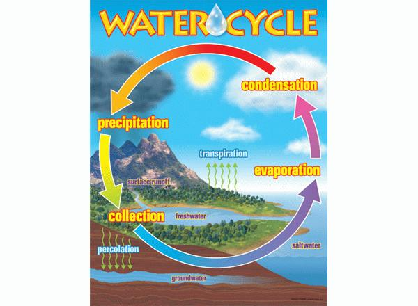 Water cycle learning chart ccuart Image collections