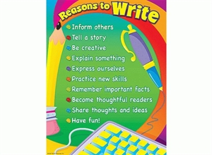 Picture of Reasons to Write Learning Chart