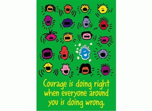 Picture of Courage is Doing Right Motivational Chart