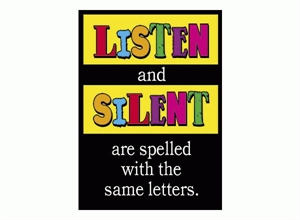 Picture of Listen and Silent Learning Chart