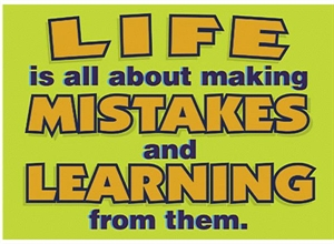 Picture of Life is all about making Mistakes Motivational Chart