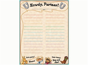 Picture of Howdy Partner! Classroom Essentials Chart
