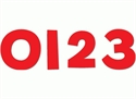 Picture of Red Designer Numbers
