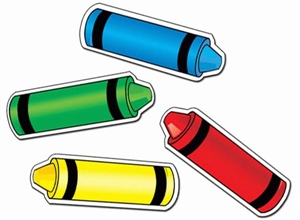 Picture of Crayons Designer Cut-outs
