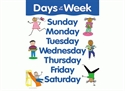 Picture of Days of the Week Learning Chart