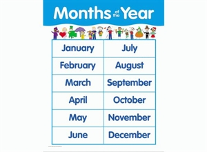 Picture of Months of the Year Learning Chart