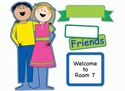Picture of Two Friends Large Banner Set