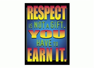 Picture of Respect is Not a Gift Learning Chart