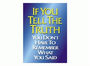 Picture of If You Tell The Truth Motivational Chart