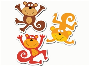 Picture of Monkey Designer Cut-outs