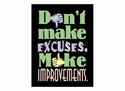 Picture of Don't Make Excuses Motivational Chart