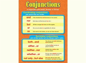 Picture of Conjunctions Learning Chart