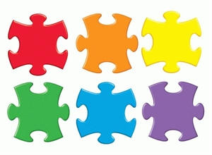 Picture of Puzzle Pieces Cut-outs