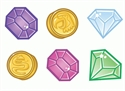 Picture of Coins and Gems Mini Cut-outs