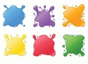 Picture of Paint Splotches Mini Cut-outs
