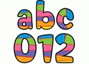 Picture of Playful Patterns Lowercase Letter Stickers