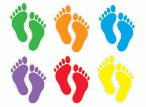Picture of Footprints Cut-outs