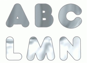 Picture of Metallic Silver Uppercase Letters