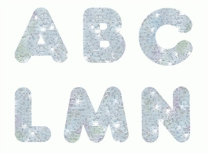 Picture of Silver Sparkle Uppercase Letters