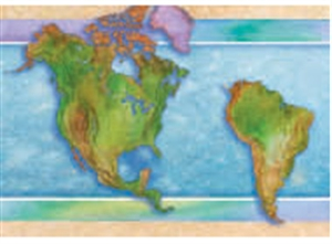 Picture of World Continents Spotlight Border