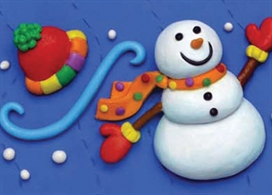 Picture of Snowmen in Clay Border