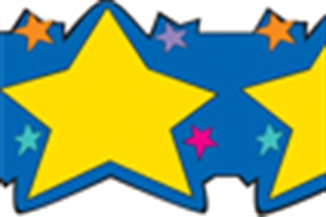 Picture of Gold Stars Border