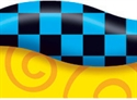 Picture of New Wave Checks-Blue & Black Border
