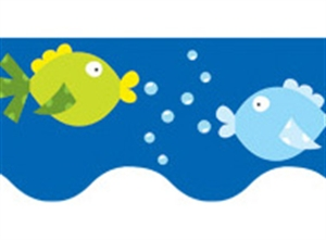 Picture of Swimming Fish Border