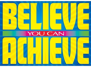 Picture of Believe you can achieve Motivational Chart
