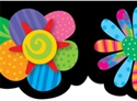 Picture of Poppin' Patterns Spring Flowers Border