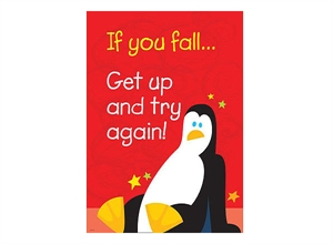 Picture of If you fall..get up and try again Motivational Chart