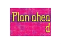 Picture of Plan Ahead Motivational Chart