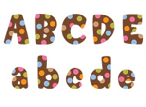 Picture of Dots on Chocolate Designer Letters