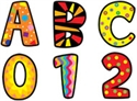 Picture of Poppin Patterns Uppercase Letter Stickers
