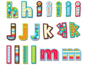 Picture of Patterns in Turquoise Lowercase Letter Stickers