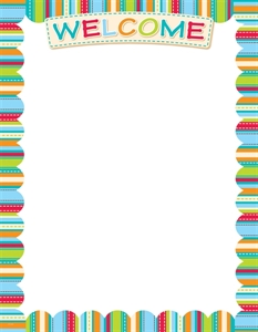 Picture of Stripes and Stitches Welcome Classroom Essentials Chart