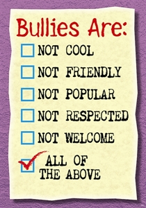 Picture of Bullies Are Not Cool Motivational Chart