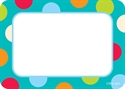 Picture of Dots on Turquoise Name Tags