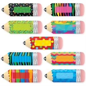 Picture of Poppin' Patterns Pencils Jumbo Cut-outs