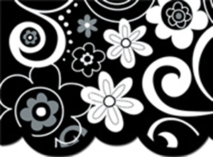 Picture of Flower Doodles Border