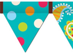 Picture of Patterns in Turquoise Pennant Border